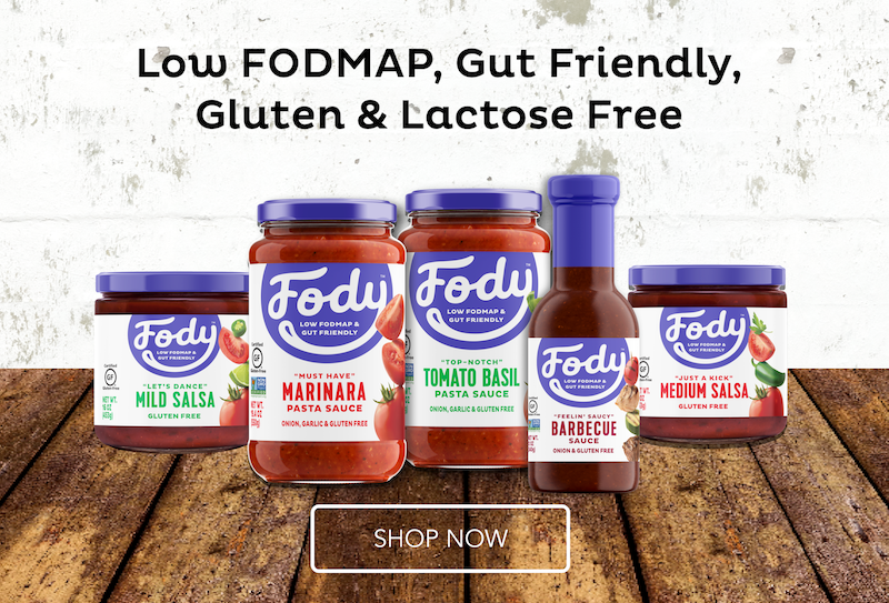 shop low fodmap, gluten & lactose free products